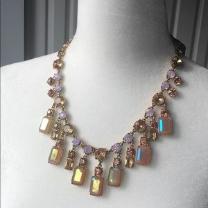 J Crew Jewel Drop Ribbon Statement Necklace